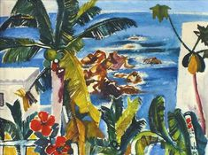 Womacka, Walter (Obergeorgenthal/Böhmen 1925 - 2010 Berlin) Acapulco Ölfarben auf Leinwand, 1971,
