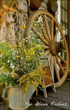 Rustic Fall in the Country.. What a charming front porch. <3...