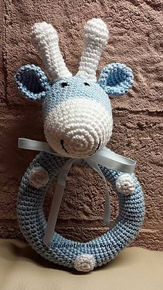 Make It: Giraffe Rattle - Free Crochet Patterns #crochet #amigurumi #ravelry…