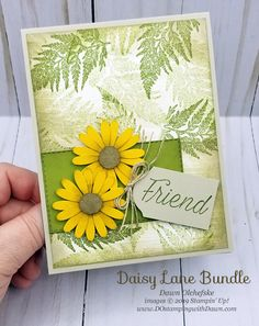 style Daisy Lane (from Stampin' Up!) card by Dawn OlchefskeVintage style Daisy Lane (from Stampin' Up!) card by Dawn Olchefske Tarjetas Stampin Up, Daisy Image, Friendship Cards, Stamping Up Cards, Cards For Friends, Flower Cards, Scrapbook Cards, Homemade Cards, Cardmaking