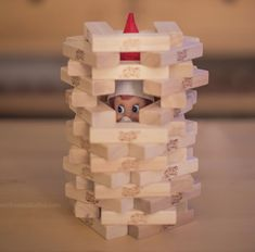 Elf on the Shelf is stuck in a Jenga puzzle! The complete index of Elf on the Shelf ideas features: Over Elf on the Shelf ideas! - Uniform picture size - Make a saved idea list - Sort by categories! Elf Ideas Easy, Awesome Elf On The Shelf Ideas, Merry Christmas, Christmas Elf, Christmas Crafts, Christmas Ideas For Kids, Christmas Humor, Christmas Activities, Christmas Traditions
