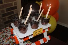 "Construction party - ""dirt cups"""
