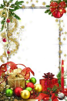 Transparent Christmas Holiday Photo Frame
