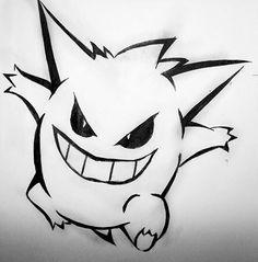Gengar my favorite Pokémon maby I will get that tattoo Gengar Pokemon, Ghost Pokemon, Pokemon Craft, Gengar Tattoo, Pokemon Tattoo, Pokeball Tattoo, Art Vampire, Vampire Knight, Pokemon Sleeves