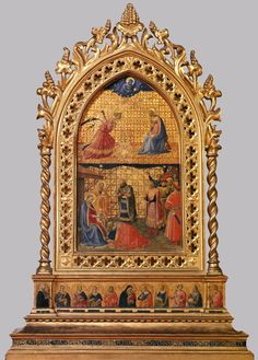 Fra Angelico, Annunciation and Adoration of the Magi, Reliquary tabernacle for Santa Maria Novella, c. 1424 (1 of 4 - now in San Marco)