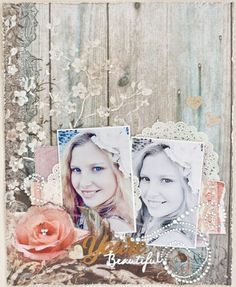 Today I am going to show you another way of how I used modeling paste to enhance Donna Salazar's beautiful paper called 'Elegant'. Scrapbook Page Layouts, Scrapbook Pages, Mixed Media Scrapbooking, Scrapbooking Ideas, Mini Albums, Modeling Paste, You're Beautiful, Texture Art, Stencils