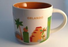 "Amazon.com: Starbucks Orlando City Ceramic Coffee Mug ""You are here"" series cup: Kitchen & Dining"