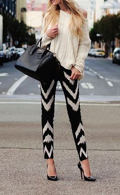 Chevron print skinnies.