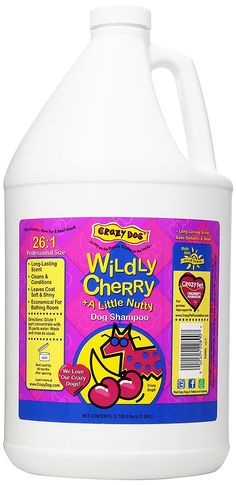 Crazy Dog Shampoo, Wild Cherry, 1-Gallon -- Want additional info? Click on the image. (This is an affiliate link) #DogCare