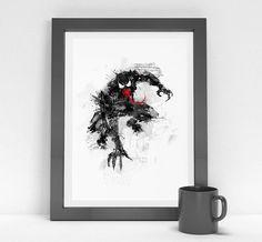 Venom  A3 superhero art poster by MadeForHomeee on Etsy, $20.00