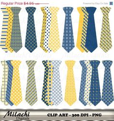 80% OFF SALE Midnight Blue and Sunglow Neck Tie by MilachiDigitals