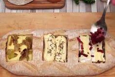 Het Franse Chefclub, een online platform voor wie van lekker eten houdt en het zelf graag klaarmaakt, presenteert in een Facebookfilmpje en wel heel origin... Chefclub Video, Chef Club, Appetizer Recipes, Appetizers, Spaghetti, Sweet Bread, Brie, Relleno, Queso