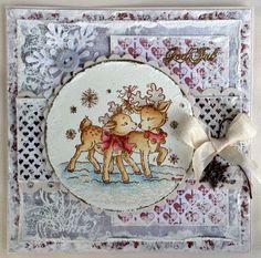 Dearest deer, Stampavie, Christmas card, Distress Ink