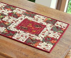 Fall Table Runner  Quilted Table Runner  Autumn by RedNeedleQuilts