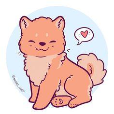 Drew up a little Chow chow because have you seen them? They're so fluffy … Hat ein kleines Chow-Chow gebastelt, weil du sie gesehen hast ? Sie sind so flauschig: 3 ? Cute Kawaii Animals, Cute Animal Drawings Kawaii, Cute Drawings, Kawaii Chibi, Kawaii Art, Anime Kawaii, Chibi Dog, Cute Dog Drawing, Motifs Animal