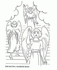 Bible Story Characters Coloring Page Sheets