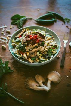 Asian Mushroom Noodle Salad