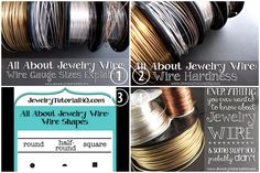 DIY Everything You Need to Know About Jewelry Wire from Jewelry Tutorial Headquarters. These are excellent easy to understand posts for anyo...