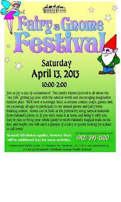 Fairy & Gnome Festival in Savannah - Saturday, April 13 at Oatland Island Wildlife Center