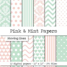 Check out this item in my Etsy shop https://www.etsy.com/listing/206353640/pastel-digital-paper-pink-mint-damask