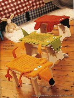 оригинальные стульчики в детскую выкройки подушек чехлов