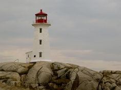 Peggy's Cove lighthouse, NS, Canada