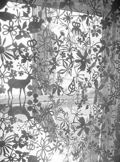 Artecnica Until Dawn Curtain Fabric : Tord Boontje Retro Curtains, White Curtains, Lace Curtains, Drapery, Kirigami, Paper Curtain, Curtain Store, Tord Boontje, Curtain Accessories