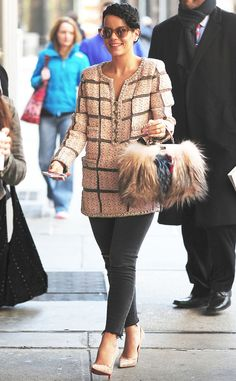 The stylish songstress is spotted strolling in the Big Apple.