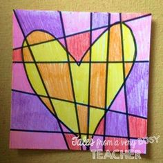 Trying to think of a fun Valentine's Day project to complete with your kiddos?  Well, I've got just the art project that will col...