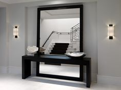 Design Studio, Inc. is a Miami based modern luxury interior design firm, specializing in high-end residential and commercial properties Modern Hallway, Modern Contemporary Living Room, Living Room Modern, Contemporary Interior, Home Entrance Decor, Corridor Design, Luxury Modern Homes, Deco Addict, Modern Bathrooms