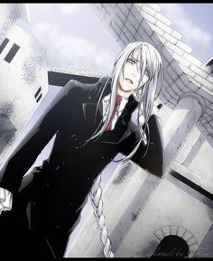 Long white hair anime guy