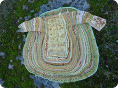 free crochet jacket built around felted focal piece
