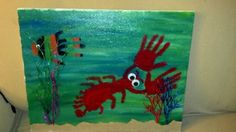 Foot and hand print art - save your children's prints for many years to come.