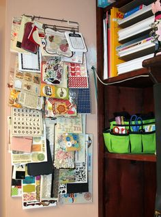 Scrapbook Organizing Solutions.  This could be a great way to organize all of my awesome kits and stickers!