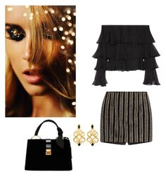 """""""Untitled #84"""" by wiame-jh ❤ liked on Polyvore featuring Miu Miu and Balmain"""