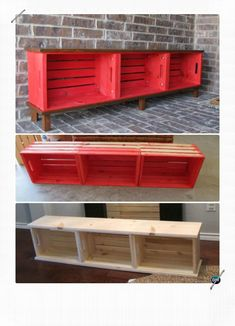 Diy Commotion saved to Woodworking Projects Wood Crate Entry Bench Best Entryway Bench DIY Ideas Projects Smart Woodworking Bench Projects You Can Do Best Entryway Bench DIY Ideas Projects [Picture Instructions] New Built or Repurposed Ent Wood Crate Furniture, Wood Crates, Furniture Ideas, Smart Furniture, Milk Crates, Diy Entryway Furniture, Bedroom Furniture, Furniture Design, Diy Furniture Cheap