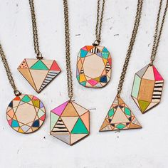 SALE! - I'm having a major sale on all my wood geometric pendants in my @etsy shop - only $15! (reg $27) Limited quantity available. Sale ends on Sunday - Jan. 18
