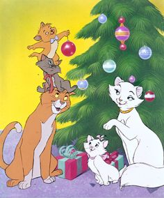 Joyeuse Noel from The Aristocats Walt Disney, Disney Cats, Disney Cartoons, Disney Love, Disney Magic, Disney And Dreamworks, Disney Pixar, Disney Characters, Christmas Characters