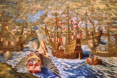 """O galeão São João Baptista, mais conhecido pela alcunha de """"Botafogo"""" foi na sua época o mais poderoso navio de guerra do mundo. Construído em 1534, tinha um deslocamento de cerca de 1000 toneladas e estava armado com 366 bocas de fogo de bronze, tendo por isso um tremendo poder de fogo. Por essa razão tornou-se conhecido por """"Botafogo"""