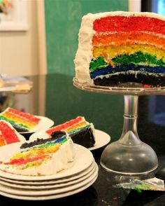 "listed as ""the easiest"" rainbow cake directions"