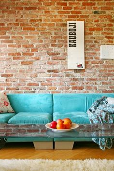 love the color combined w/rustic brick