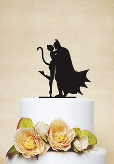 Batman And Catwoman Cake Topper Custom by AcrylicDesignForYou