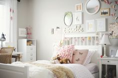 I am so in love with this little girls room.