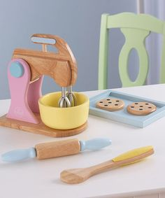 Kid chefs can cook up play feasts, treats and meals with this sweet set that has everything necessary to mix, stir, roll and bake, including two play cookies! Just add imagination for hours of endless fun. Note: This item cannot be shipped to Hawaii, Puerto Rico or Alaska.