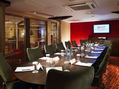 The Irwell room, set for a boardroom Property Investor, Going On Holiday, Peterborough, House Prices, Real Estate, Manchester, Table, Conference Facilities, Meeting Rooms