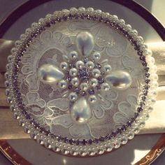 Lace pearls and bling favors by Angela's Fantasy Creations 818-817-7575