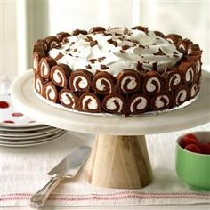 Chocolate Swirl Delight Recipe -I made a few updates to a great recipe and ended up with an impressive dessert. Everyone loves its light texture and chocolaty flavor. —Lynne Bargar, Saegertown, Pennyslvania