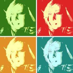 Composições tipo Andy Warhol.