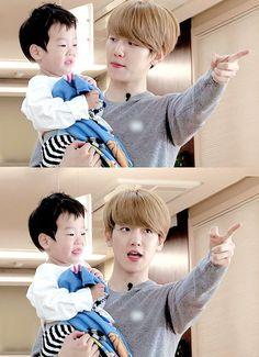 Imagine they are your husband and son :D Baekhyun, Baekyeol, Chanbaek, Same Old Love, My Love, Kim Minseok, Exo Ot12, Someone Like You, Photos