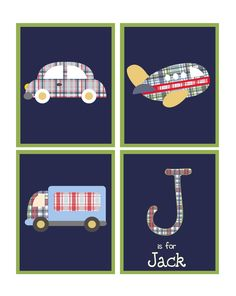 Personalized Transportation prints/children by ThePrintedOwl, $35.00